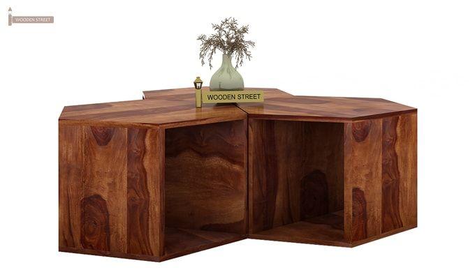 Ruth Centre Table - Set Of 3 (Teak Finish)-3