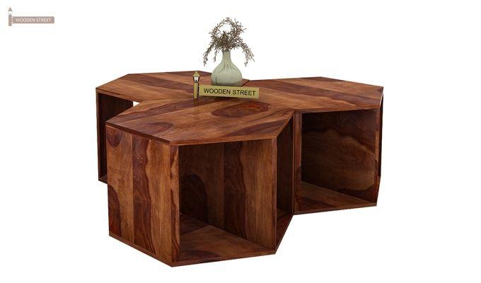 Ruth Centre Table - Set Of 3 (Teak Finish)-4