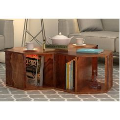Ruth Centre Table - Set Of 3 (Teak Finish)