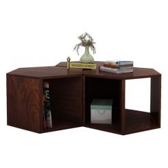 Ruth Centre Table - Set Of 3 (Walnut Finish)
