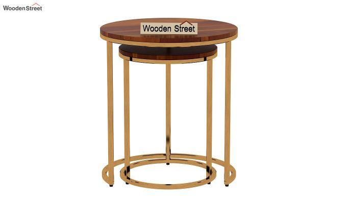 Silo Nest of Tables (Honey Finish)-5