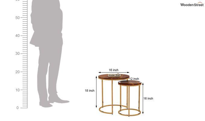 Silo Nest of Tables (Honey Finish)-7