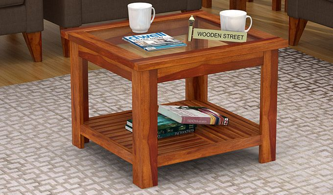 Stacy Coffee Table (Honey Finish)-1