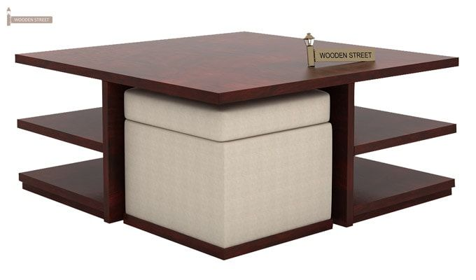 Steller Coffee Table (Mahogany Finish)-4