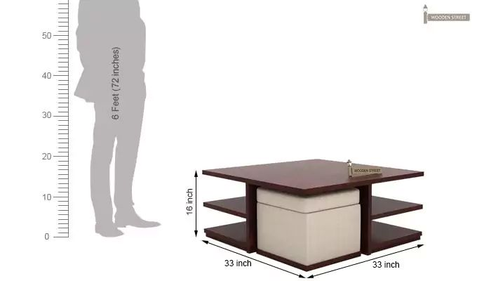 Steller Coffee Table (Mahogany Finish)-10