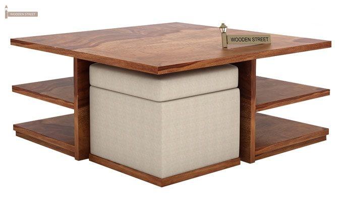 Steller Coffee Table (Teak Finish)-4