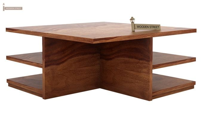 Steller Coffee Table (Teak Finish)-6