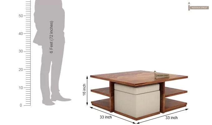 Steller Coffee Table (Teak Finish)-10