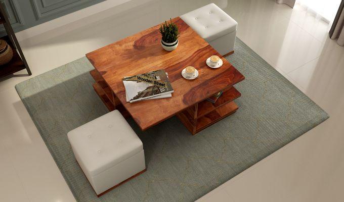 Steller Coffee Table (Honey Finish)-2