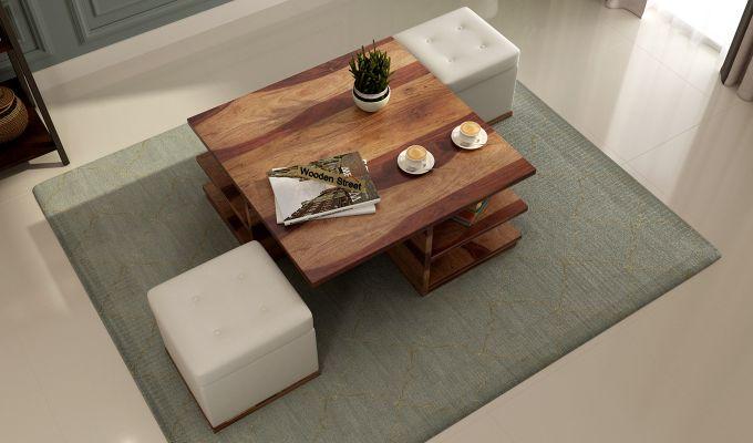 Steller Coffee Table (Teak Finish)-2