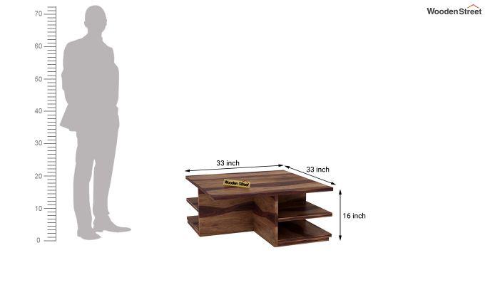 Steller Coffee Table (Teak Finish)-8