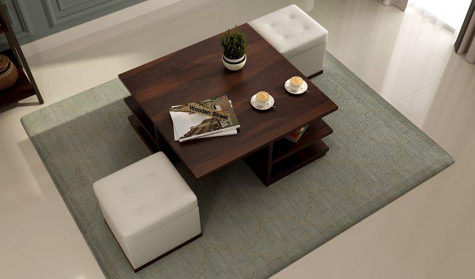Steller Coffee Table (Walnut Finish)-2