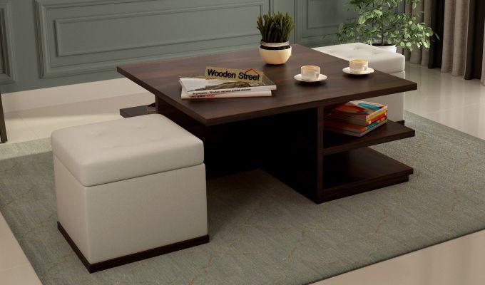 Steller Coffee Table (Walnut Finish)-1
