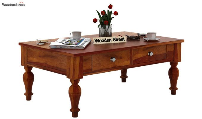 Trae Coffee Table (Honey Finish)-2