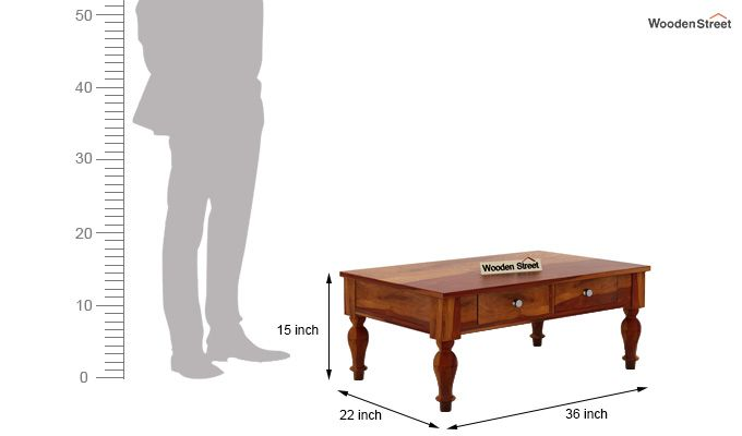 Trae Coffee Table (Honey Finish)-6