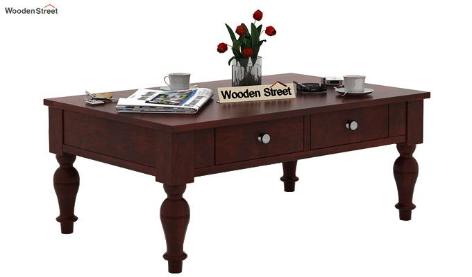 Trae Coffee Table (Mahogany Finish)-1