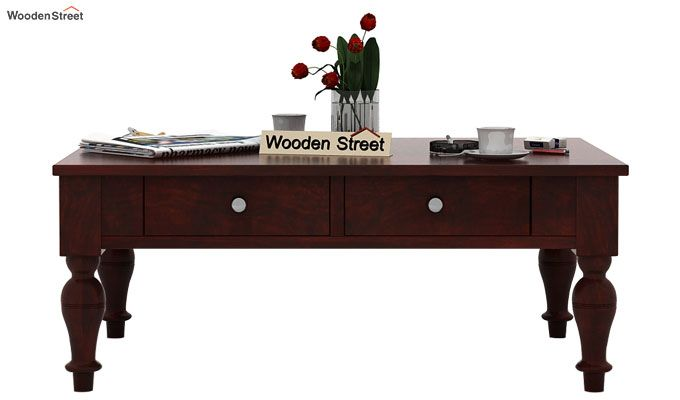 Trae Coffee Table (Mahogany Finish)-2