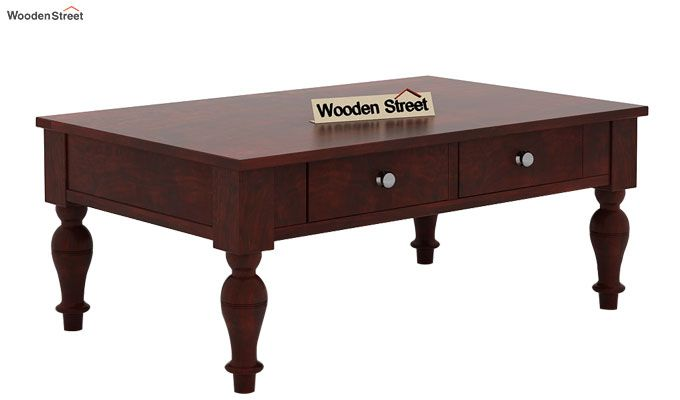 Trae Coffee Table (Mahogany Finish)-3