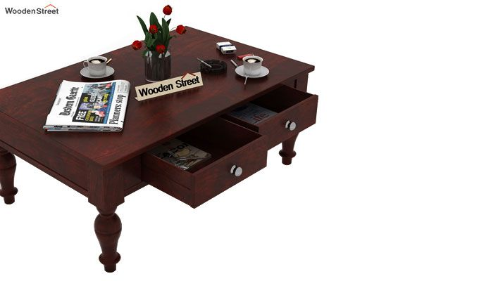 Trae Coffee Table (Mahogany Finish)-4