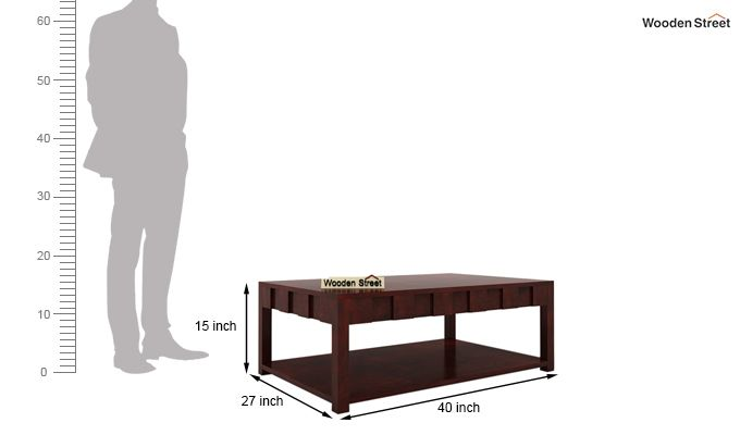 Travis Coffee Table (Mahogany Finish)-6