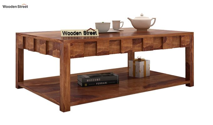Travis Coffee Table (Teak Finish)-1