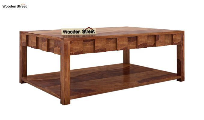Travis Coffee Table (Teak Finish)-3