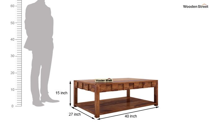 Travis Coffee Table (Teak Finish)-6