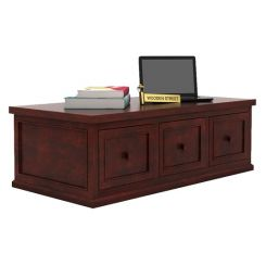 Trine 6 Drawer Tea Table (Mahogany Finish)