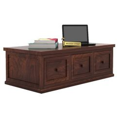 Trine 6 Drawer Tea Table (Walnut Finish)