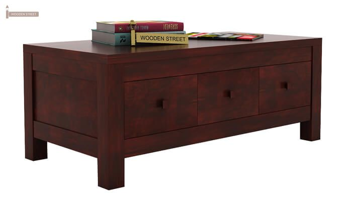 Turner 6 Drawer Coffee Table (Mahogany Finish)-2