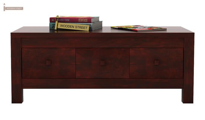 Turner 6 Drawer Coffee Table (Mahogany Finish)-3