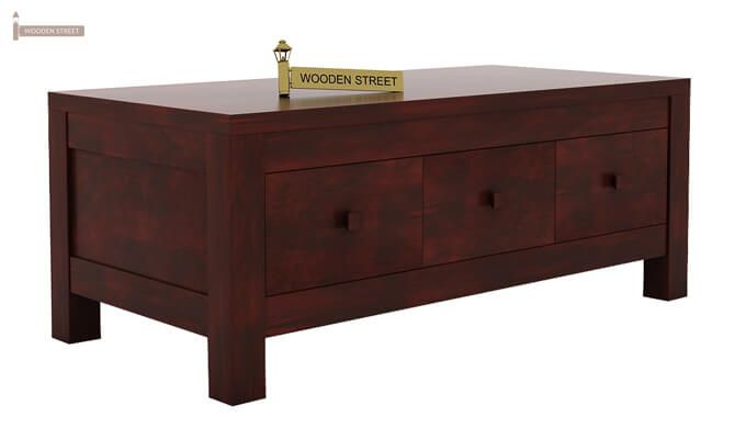 Turner 6 Drawer Coffee Table (Mahogany Finish)-5