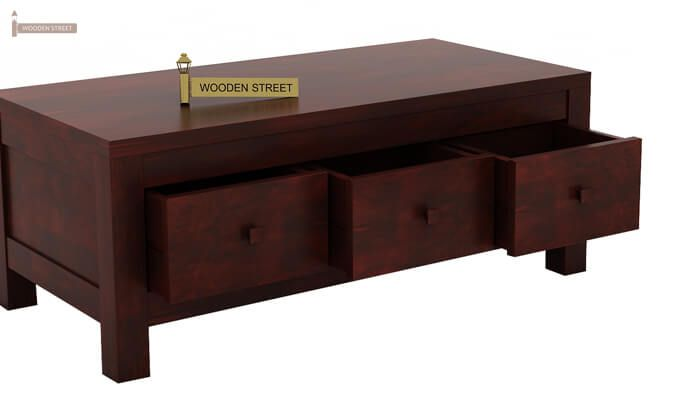 Turner 6 Drawer Coffee Table (Mahogany Finish)-6