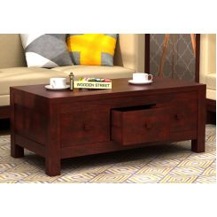 Turner 6 Drawer Coffee Table (Mahogany Finish)
