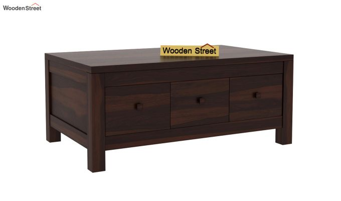Turner 6 Drawer Coffee Table (Walnut Finish)-3