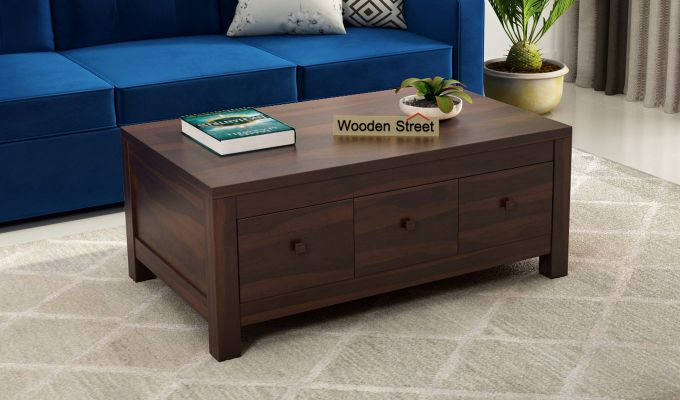 Turner 6 Drawer Coffee Table (Walnut Finish)-1