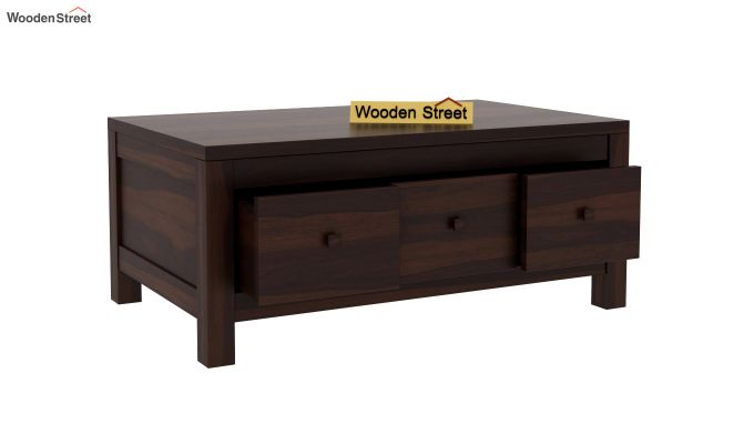 Turner 6 Drawer Coffee Table (Walnut Finish)-5