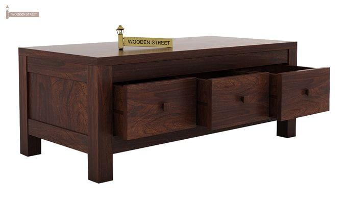 Turner 6 Drawer Coffee Table (Walnut Finish)-3