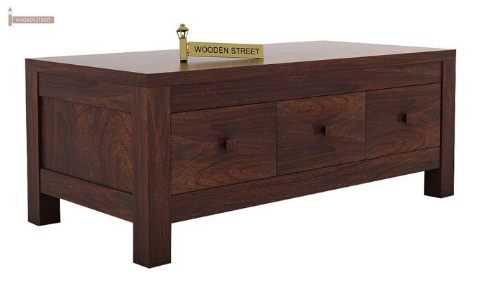 Turner 6 Drawer Coffee Table (Walnut Finish)-5