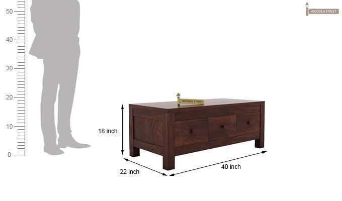 Turner 6 Drawer Coffee Table (Walnut Finish)-6
