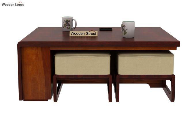 Vesta Coffee Table (Honey-Mahogany Finish, Irish Cream)-5