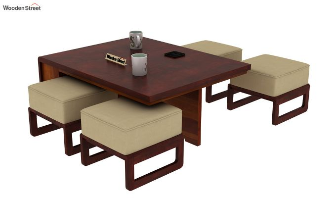 Vesta Coffee Table (Honey-Mahogany Finish, Irish Cream)-12
