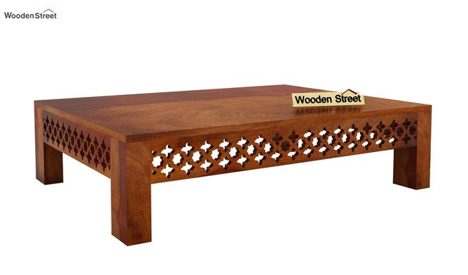 Buy vigo coffee table honey finish online in india for Buy cheap coffee table online