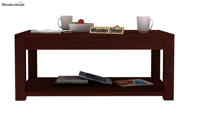 Wilma Center Table (Mahogany Finish)-2