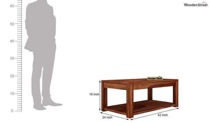 Wilma Center Table (Teak Finish)-4