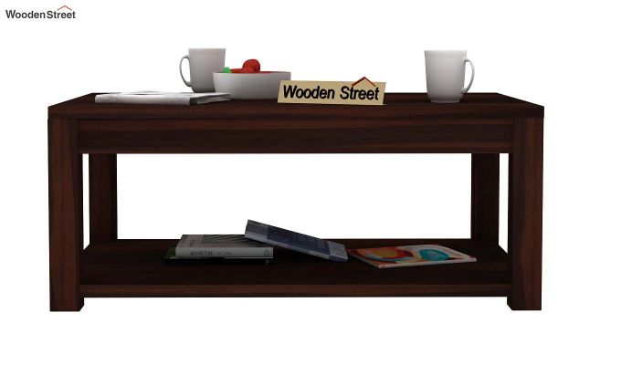 Wilma Center Table (Walnut Finish)-2