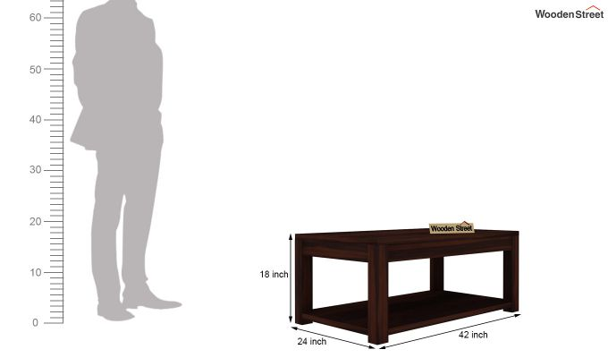 Wilma Center Table (Walnut Finish)-4