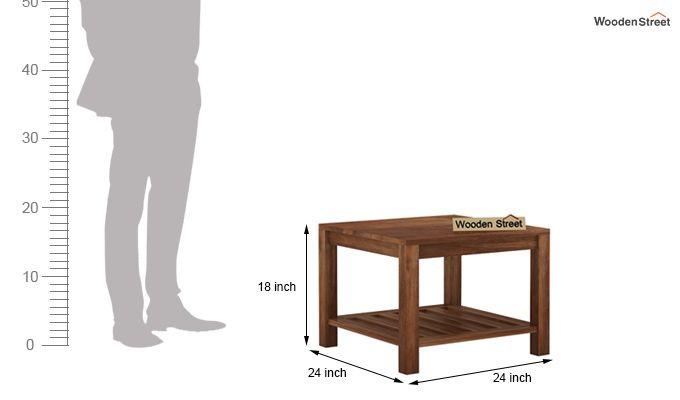 Zander Coffee Table (Teak Finish)-5