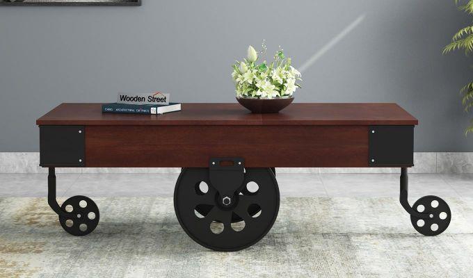 Zibar Loft Coffee Table (Walnut Finish)-2