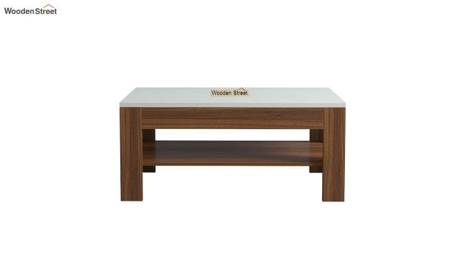 Beach Coffee Table with Frosty White Top (Exotic Teak Finish)-3